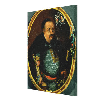 Portrait of Bohdan Khmelnytsky Canvas Print