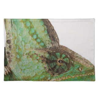Portrait of boldly colored Yemen chameleon Cloth Place Mat