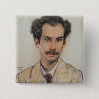 Portrait of Boris Nikolayevich Bugaev (1880-1934) Button