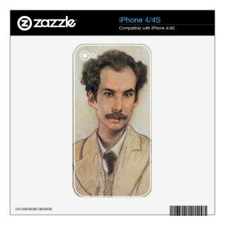Portrait of Boris Nikolayevich Bugaev (1880-1934) iPhone 4S Skins