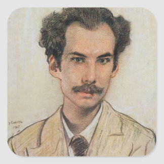 Portrait of Boris Nikolayevich Bugaev (1880-1934) Square Sticker