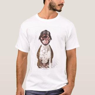 portrait of boxer dog yawning T-Shirt