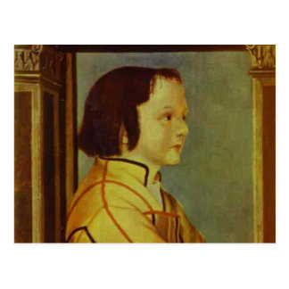 Portrait of Boy with Chestnut Hair by Hans Holbein Post Card