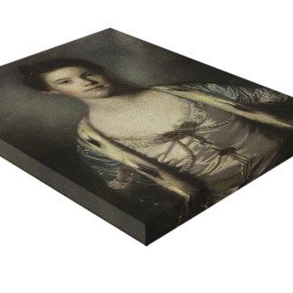 Portrait of Bridget Moris by Joshua Reynolds Gallery Wrapped Canvas
