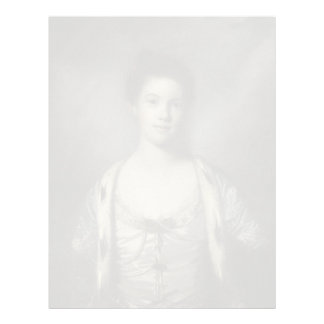Portrait of Bridget Moris by Joshua Reynolds Letterhead Design