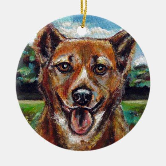 Portrait of Brownie Ceramic Ornament