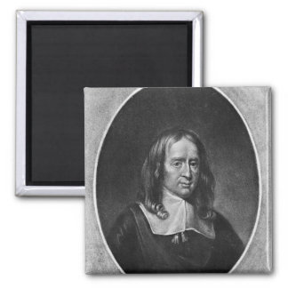 Portrait of Bruno Ryves 2 Inch Square Magnet