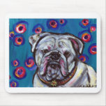 Portrait of Bubbly Bulldog Mouse Pad