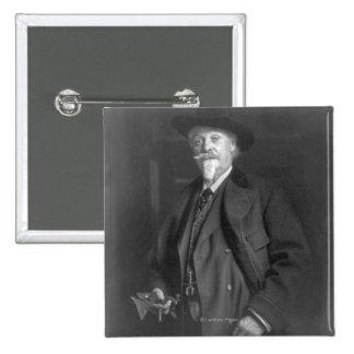 "Portrait of ""Buffalo Bill"" Cody Pinback Button"