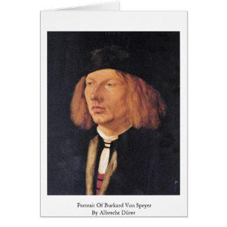 Portrait Of Burkard Von Speyer By Albrecht Dürer Card