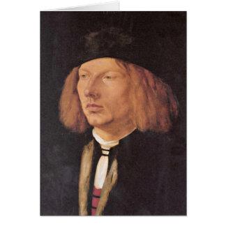 Portrait Of Burkard Von Speyer By Albrecht Durer Cards