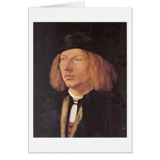 Portrait Of Burkard Von Speyer By Albrecht Durer Card