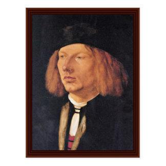 Portrait Of Burkard Von Speyer By Albrecht Dürer Post Cards