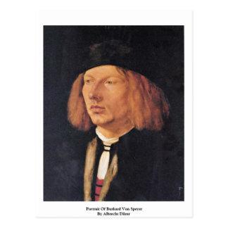 Portrait Of Burkard Von Speyer By Albrecht Dürer Post Card