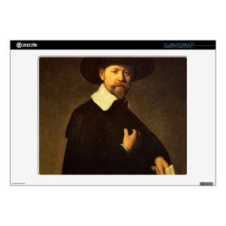 Portrait of businessman Martin Looten by Rembrandt Laptop Skin