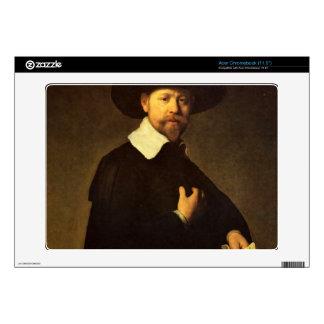 Portrait of businessman Martin Looten by Rembrandt Acer Chromebook Decals