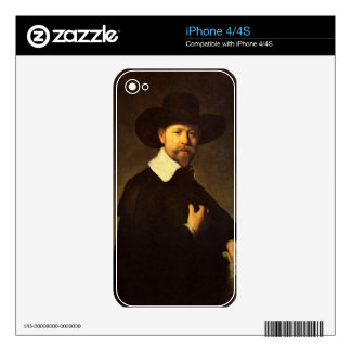 Portrait of businessman Martin Looten by Rembrandt Skin For iPhone 4