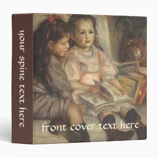 Portrait of Caillebotte Children by Pierre Renoir 3 Ring Binder
