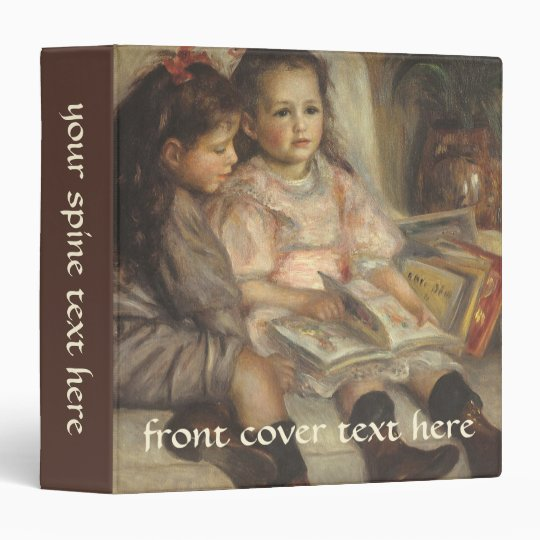 Portrait of Caillebotte Children by Pierre Renoir 3 Ring Binder