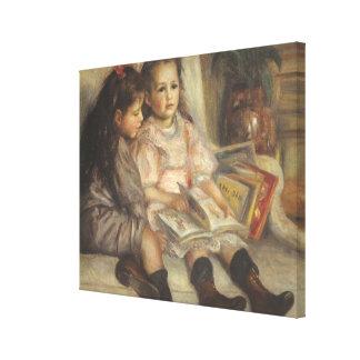 Portrait of Caillebotte Children by Pierre Renoir Canvas Print