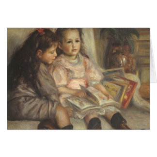 Portrait of Caillebotte Children by Pierre Renoir Card