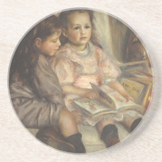 Portrait of Caillebotte Children by Pierre Renoir Drink Coaster