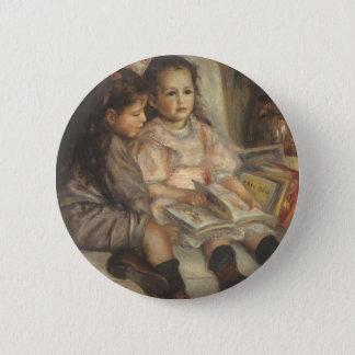 Portrait of Caillebotte Children by Pierre Renoir Pinback Button