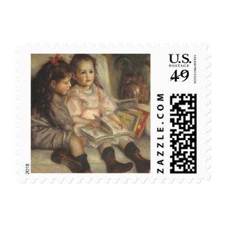 Portrait of Caillebotte Children by Pierre Renoir Postage