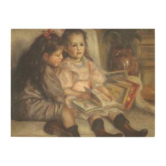 Portrait of Caillebotte Children by Pierre Renoir Wood Wall Art
