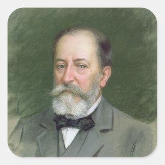 Portrait of Camille Saint-Saens  1903 Square Sticker