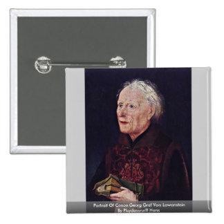 Portrait Of Canon Georg Graf Von Lowenstein Pin