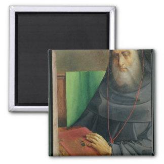 Portrait of Cardinal Bessarion  c.1475 2 Inch Square Magnet