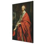 Portrait of Cardinal de Richelieu Canvas Print