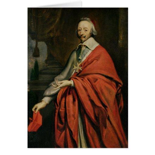 Portrait of Cardinal de Richelieu Greeting Card
