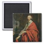 Portrait of Cardinal de Richelieu 2 Inch Square Magnet