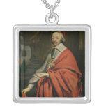 Portrait of Cardinal de Richelieu Square Pendant Necklace