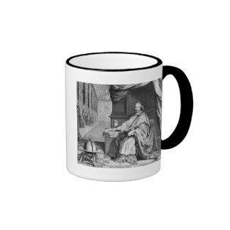 Portrait of Cardinal Mazarin  in his Palace Ringer Mug