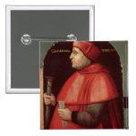Portrait of Cardinal Thomas Wolsey Pinback Button
