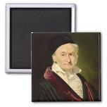 Portrait of Carl Friedrich Gauss, 1840 2 Inch Square Magnet