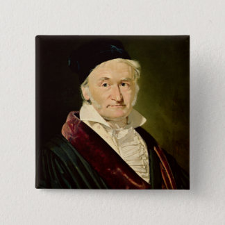 Portrait of Carl Friedrich Gauss, 1840 Pinback Button