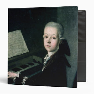Portrait of Carl Graf Firmian at the piano 3 Ring Binder