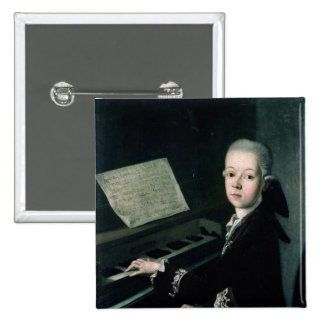 Portrait of Carl Graf Firmian at the piano Pinback Button