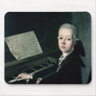 Portrait of Carl Graf Firmian at the piano Mouse Pad