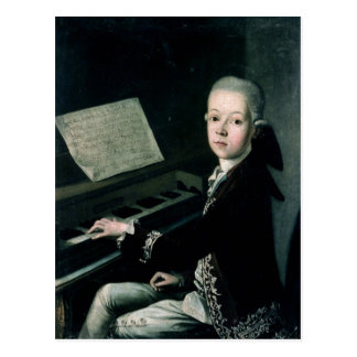 Portrait of Carl Graf Firmian at the piano Postcard