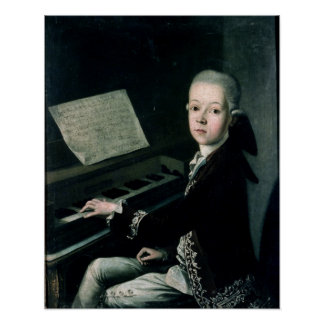 Portrait of Carl Graf Firmian at the piano Poster