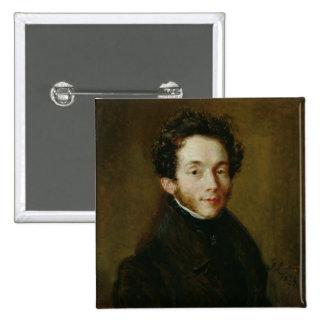Portrait of Carl Maria Friedrich Ernst von Pinback Button