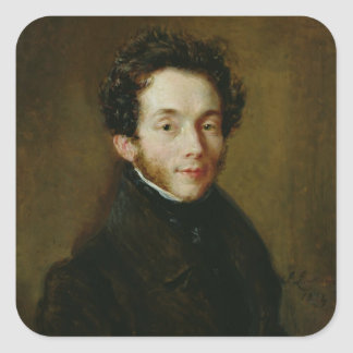 Portrait of Carl Maria Friedrich Ernst von Square Sticker