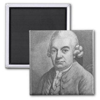 Portrait of Carl Philipp Emanuel Bach (1714-88) (e Refrigerator Magnets