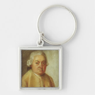 Portrait of Carl Philipp Emanuel Bach, c.1780 Silver-Colored Square Keychain