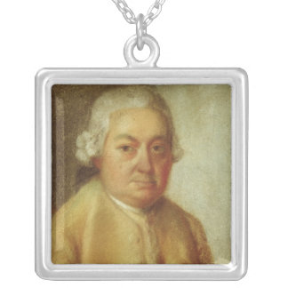 Portrait of Carl Philipp Emanuel Bach, c.1780 Silver Plated Necklace